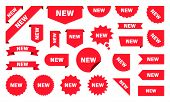 New Label Collection Set. Sale Tags. Discount Red Ribbons, Banners And Icons. Shopping Tags. Sale Ic poster