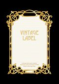 Label, Decorative Frame, Border. Good For Product Label. With Place For Text In Art Nouveau Style, V poster