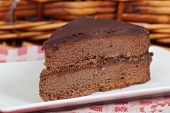 foto of nic  - Delicious slice of home made chocolate cake - JPG