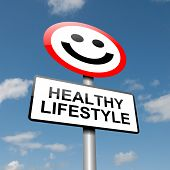 stock photo of lower body  - Illustration depicting a road traffic sign with a healthy lifestyle concept - JPG