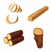 Vector Illustration Of Signboard And Wood Symbol. Set Of Signboard And Wooden Vector Icon For Stock. poster