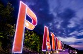 Pattaya City Lighting Sign