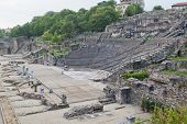 stock photo of gaul  - Amphitheater of the Three Gauls in Fourviere above Lyon France - JPG
