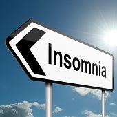 stock photo of deprivation  - Illustration depicting a road traffic sign with a insomnia concept - JPG