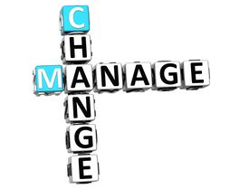 pic of change management  - 3D Change Manage Crossword on white background - JPG