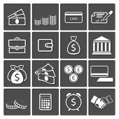 stock photo of paycheck  - Vector Money icons - JPG