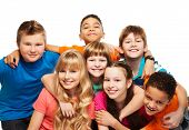 picture of brunete  - Large group of kids age 8 - JPG