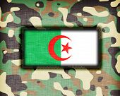 pic of ami  - Amy camouflage uniform with flag on it Algeria - JPG