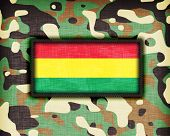 picture of ami  - Amy camouflage uniform with flag on it Bolivia - JPG