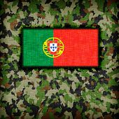 pic of ami  - Amy camouflage uniform with flag on it Portugal - JPG