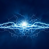 pic of thunder-storm  - Electric lighting effect abstract techno backgrounds for your design - JPG