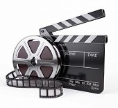 stock photo of clapper board  - Film and Clapper board  - JPG