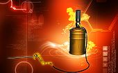 stock photo of greased  - Digital illustration of air grease pump in colour background - JPG