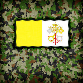 picture of ami  - Amy camouflage uniform with flag on it Vatican City - JPG