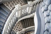 foto of balustrade  - Stairs with balusters - JPG
