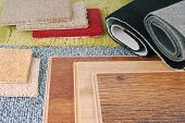 picture of laminate  - closeup of the carpet and laminate choice for interior