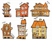 6 vector cartoon houses