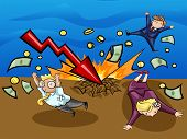 Crash Of Economic Downturn, Kill All Businesspeople (vector)