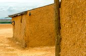 picture of mud-hut  - Mud shack in a desert region in La Guajira Colombia