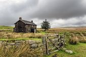 Abandoned Farmhouse On A Stormy Day In Dartmoor