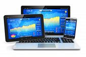 stock photo of internet-banking  - Stock exchange market trading - JPG