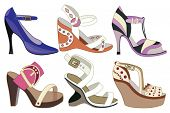 collection og fashion shoes (vector illustration)