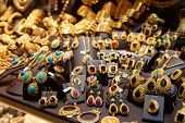 image of brooch  - Jewelry market in Istanbul - JPG