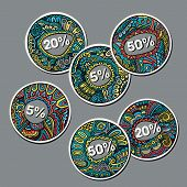Set of Sale decorative vector Labels