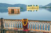 Water Palace (jal Mahal) In Man Sagar Lake. Jaipur, Rajasthan, India.