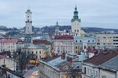 Beautiful Cityscape Of The Center Of Lvov