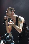 Постер, плакат: Andrew Fletcher Dave Gahan and Martin Gore from Depeche Mode in concert at the Minsk Arena