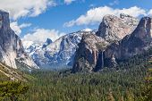picture of granite dome  - granite cliffs rivers waterfalls domes and the beautiful landscape formed by glacier - JPG