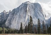 pic of granite dome  - Yosemite National Park granite cliffs rivers waterfalls domes and the beautiful landscape formed by glacier - JPG