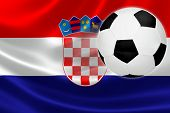 Soccer Ball Leaps Out Of Croatia's Flag