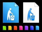 Recycle Bin Icons on Colorful Paper Document Collection