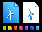 Windmill Icons on Colorful Paper Document Collection