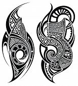image of maori  - Vector tattoo design elements - JPG