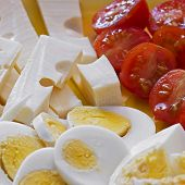 Eggs, Cheese And Tomatoes