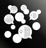 Vector Circles And Speak Bubbles Infographic Template