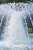 stock photo of fountains  - spouting water fountain in the heart of Monaco - JPG