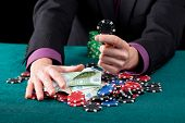 stock photo of gambler  - Gambler - JPG