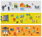 pic of transportation icons  - Flat and web design banners - JPG