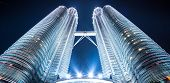 stock photo of petronas twin towers  - Twin tower - JPG