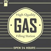 Gas Filling Station Banner