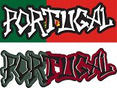Portugale word graffiti different style. Vector