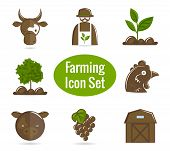 Farming icon set