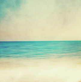 picture of pass-time  - View of the sea in grunge and retro style - JPG
