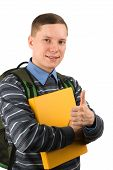 Male Student With Thumb Up
