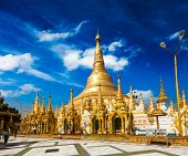 image of yangon  - Myanmer famous sacred place and tourist attraction landmark  - JPG