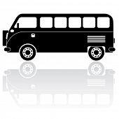 picture of camper-van  - Camper van silhouette vector icon - JPG